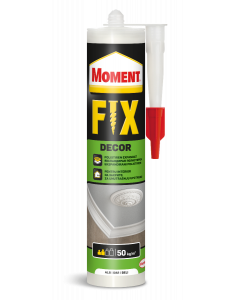 Moment Fix Decor монтажно лепило без разтворители, бяло 400гр.