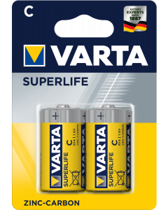 Varta Superlife R14P C 2 броя блистер