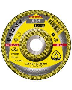 A 24 Extra  диск  за  шлайфане на  метал  125 x 6 x 22.23 мм.