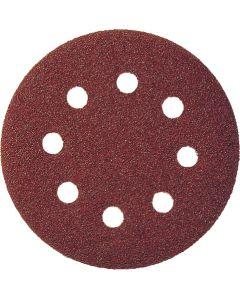 Самозалепващ диск червен   PS 22 K - P40   inox / мeтал /дърво 125 мм.  P 40