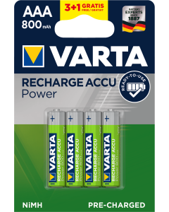 Varta Power Accu HR03 AAA 800 mAh Ready2Use 3+1 броя