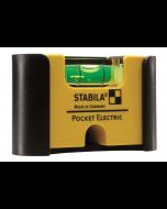 Джобен нивелир с калъф за колан Stabila Pocket Electric  7 см