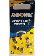 Батерия за слухов апарат Rayovac type 10 / 6 бр. блистер