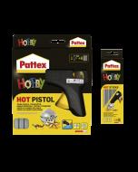 Pattex комплект пистолет и патрони за горещо лепене